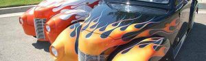 39 Roadster Flames