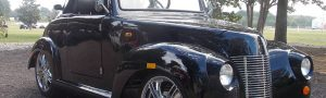 39 Roadster Black Golf Cart