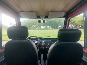 interior of a revolution golf car