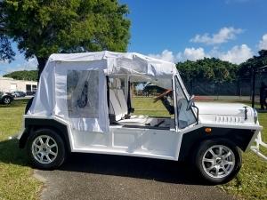 white moke golf cart, moke golf cars, golf cart rentals, golf cart rent