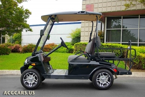 black t sport golf car