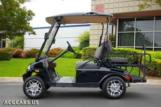 black t sport golf car