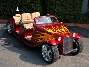 california roadster limo golf car, california roadster golf cart