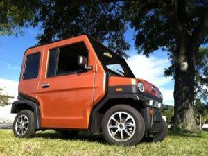 revolution golf car in orange
