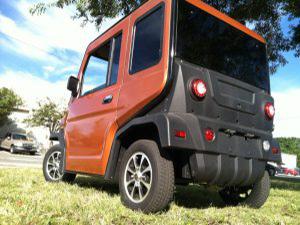 rear of revolution golf car