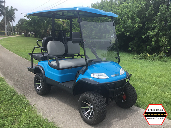 advanced ev 2 plus 2 lifted golf cart, ev 2 plus 2 lifted cart