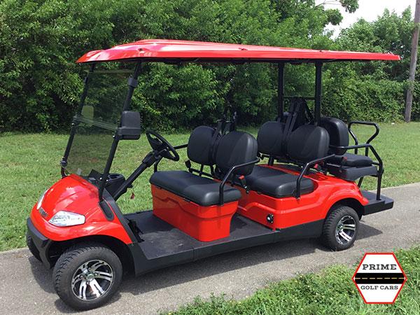 advanced ev 4+2 golf cart, ev 4+2 cart, ev cart