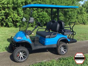 Advanced EV 2+2 Lifted 4 Passenger Bahama Blue Golf Cart